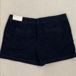 "LOFT 4"" Short Dark Denim Jean Shorts  NEW  Sz 14"